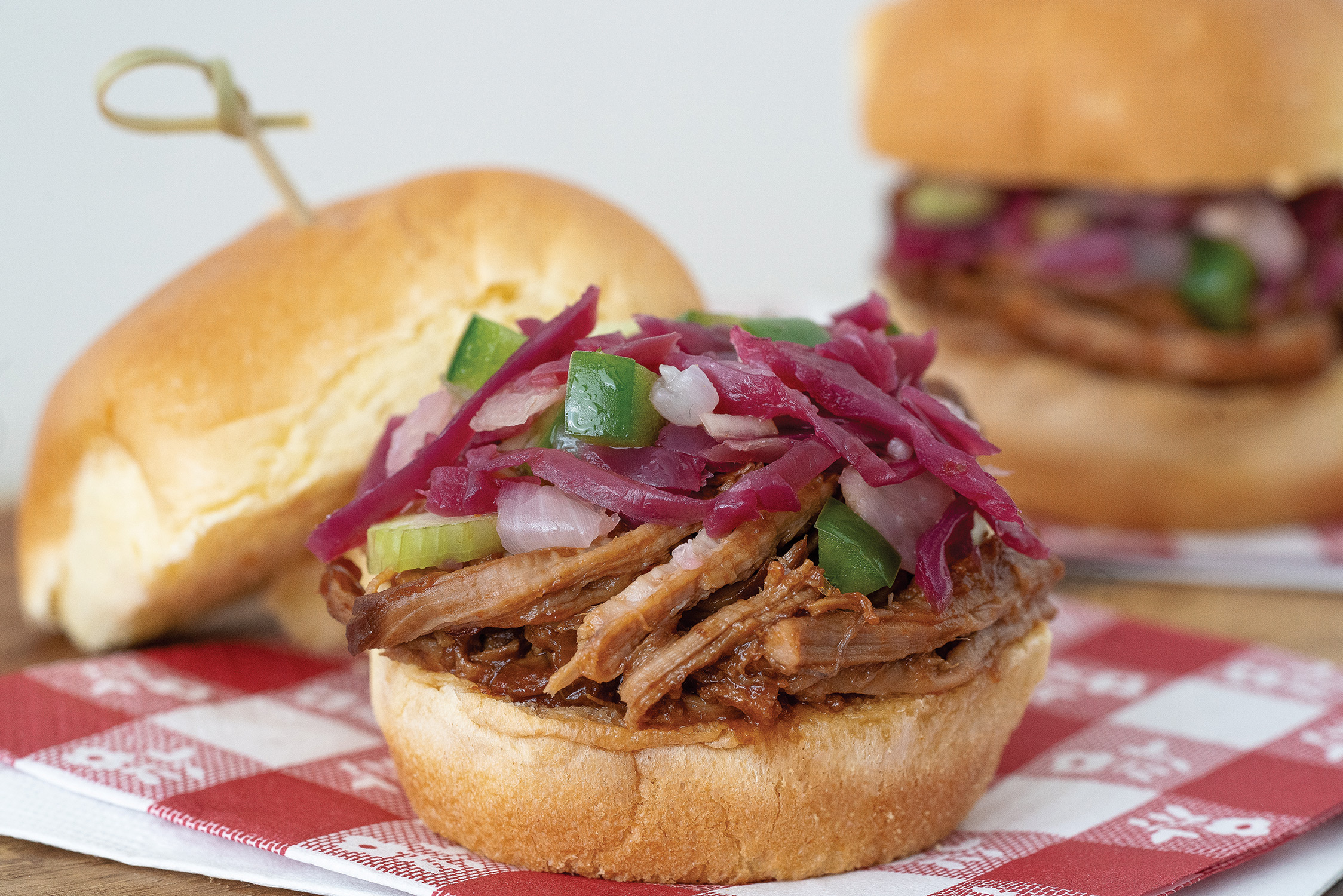 Pulled Pork Sliders with Tangy Red Slaw