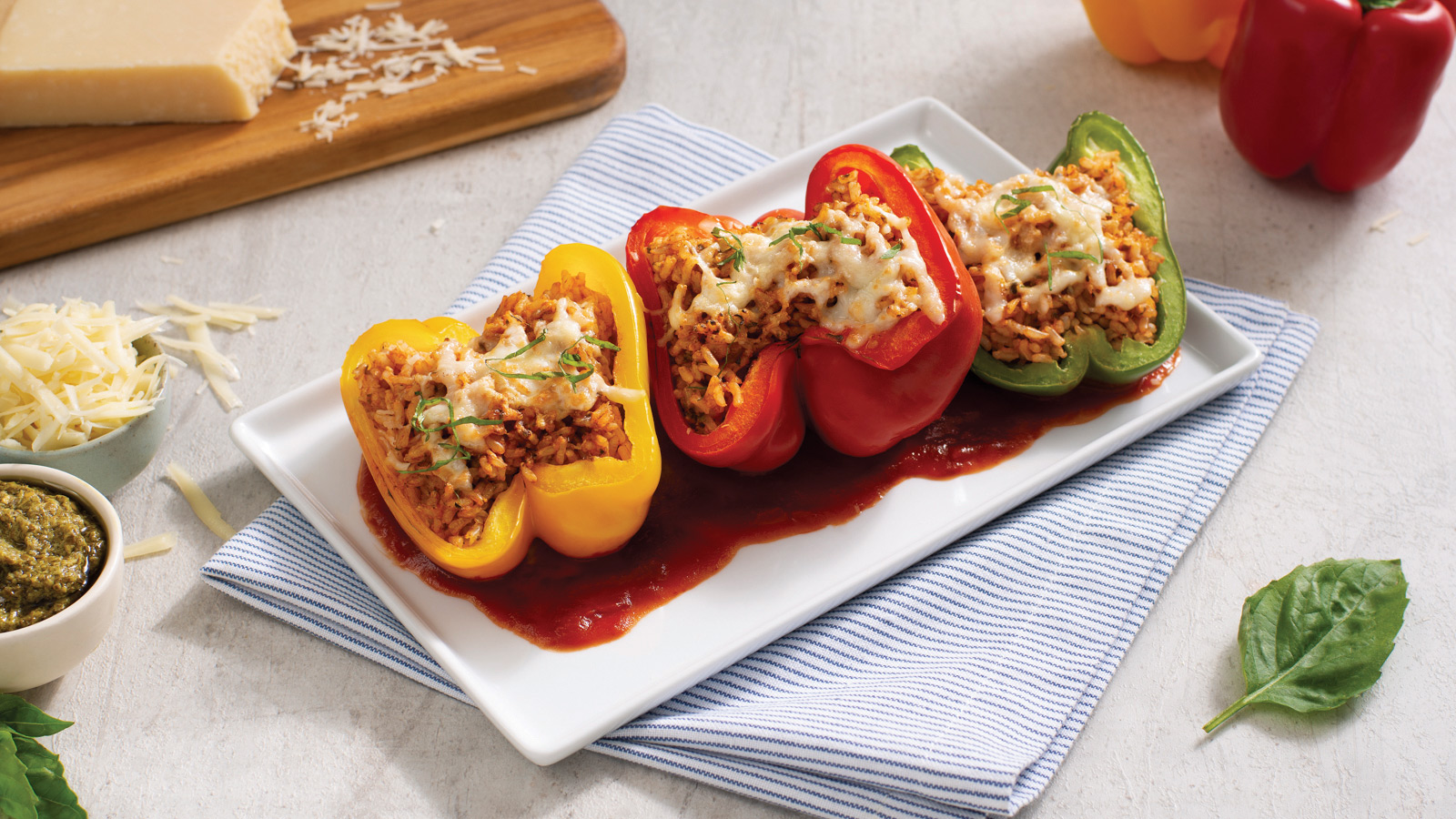 Parmesan Stuffed Peppers For Lent
